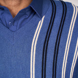 Mens Patterned Vee Neck Sweater Gabicci Classic - G45M05 Riviera