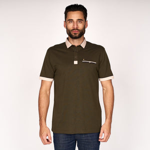 Mens Short Sleeve Plated Jersey Polo Shirt Gabicci Classic - G45X09 Raffia