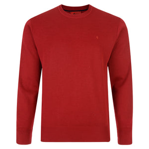Mens Crew Neck Sweater Gabicci Classic - Red
