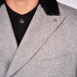 Mens Tailored Overcoat Gabicci Maddox St London - M41MJ11 Pewter