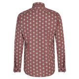 Mens Long Sleeve Shirt Gabicci Maddox St London - M41MW07 Merlot