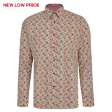 Mens Long Sleeve Shirt Gabicci Maddox Street London - M42MW08 Rouge