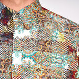 Mens Long Sleeve Woven Shirt Gabicci Maddox St London - M43MW02 Lava