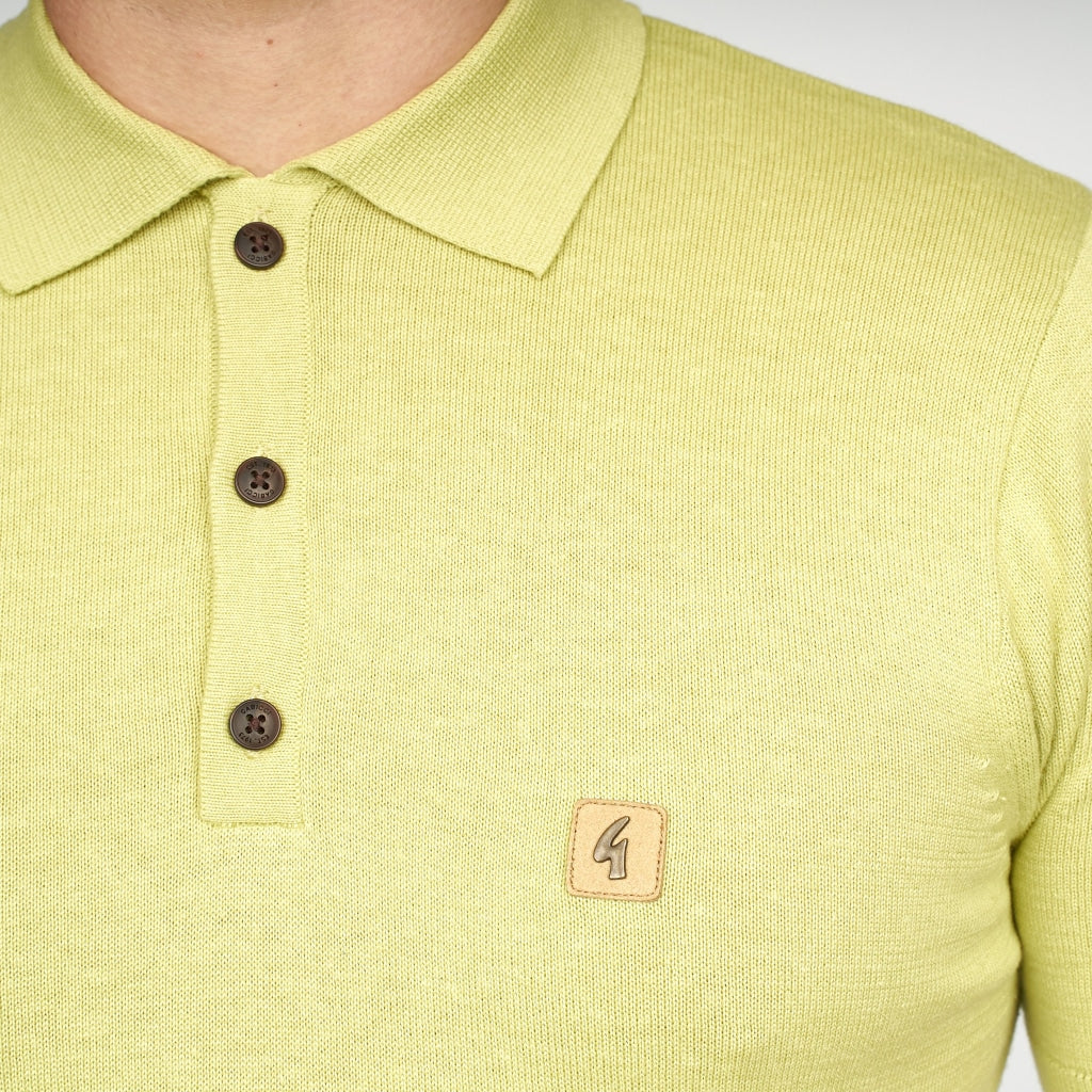 Mens Polo Collar Sweater Gabicci Vintage  - V44GK04 Beechnut
