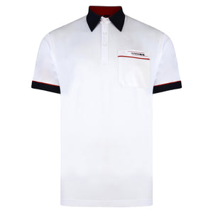 Mens Polo Shirt Classic Gabicci - G00X62 White