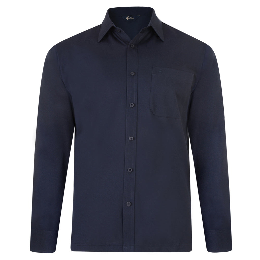 Mens Long Sleeve Polo Shirt Classic Gabicci - G00Z06 Navy