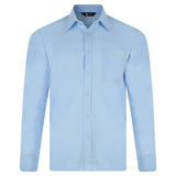 Mens Long Sleeve Polo Shirt Classic Gabicci - G00Z06 Sky