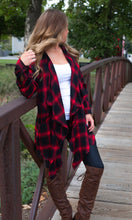 Load image into Gallery viewer, Little Red Buffalo Plaid Cardigan