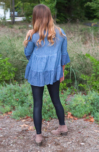 Chambray Dreams Babydoll Top