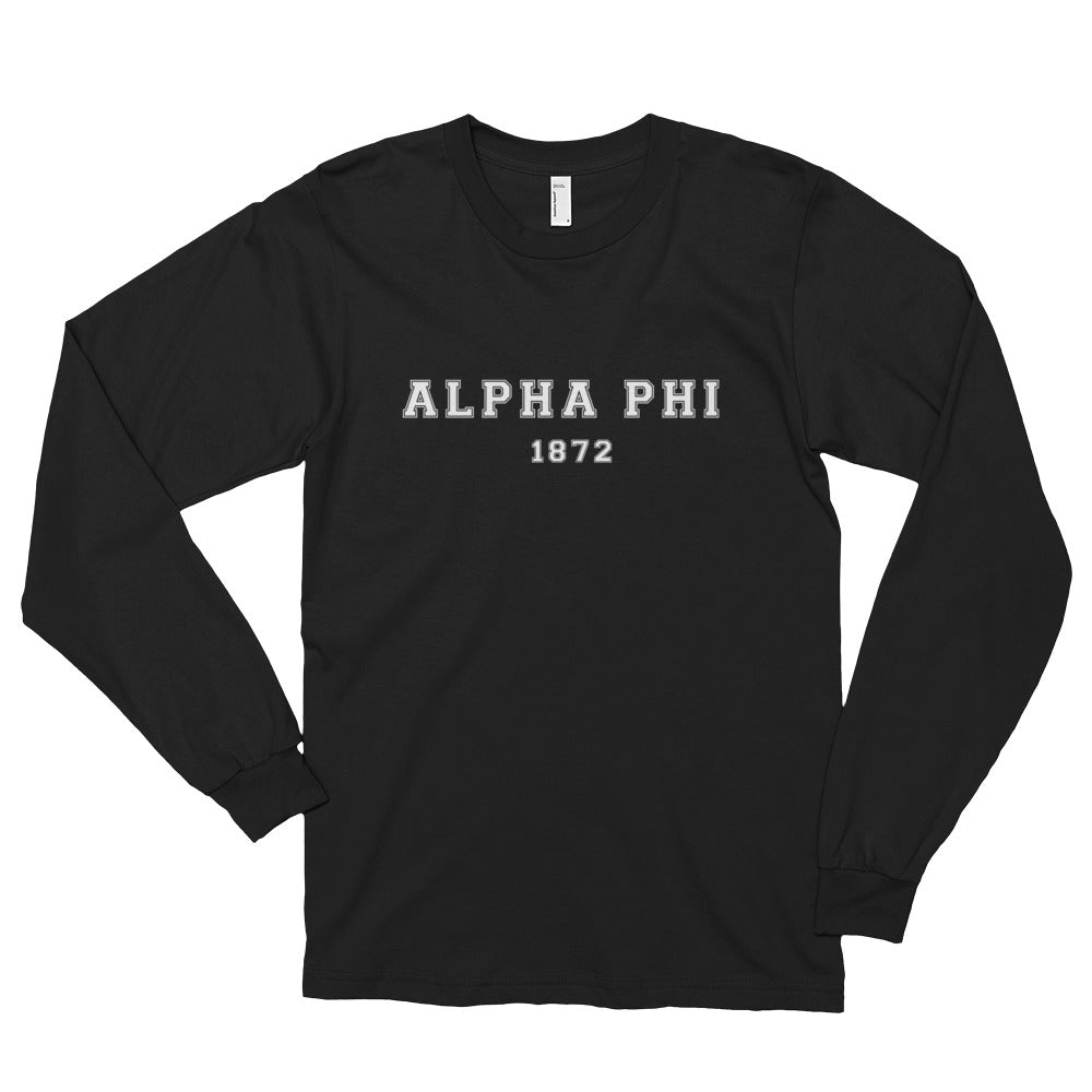 Alpha Phi Old School Long Sleeve Unisex Tees