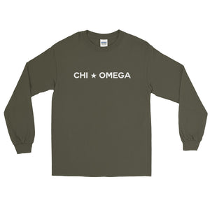 Chi Omega Star Unisex Long Sleeve T-Shirt