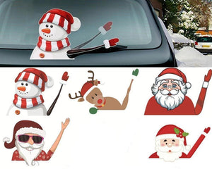 Christmas Waving Car Wiper Stickers