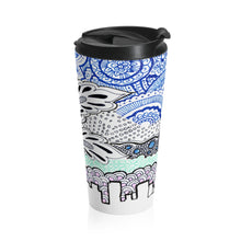 Load image into Gallery viewer, Akruti Artz Cityscape Stainless Steel Travel Mug