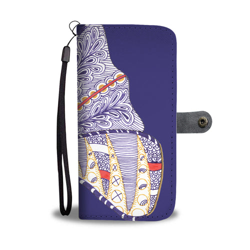 Butterfly folding phone wallet