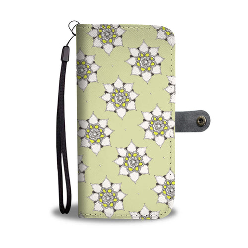Flower folding phone wallet