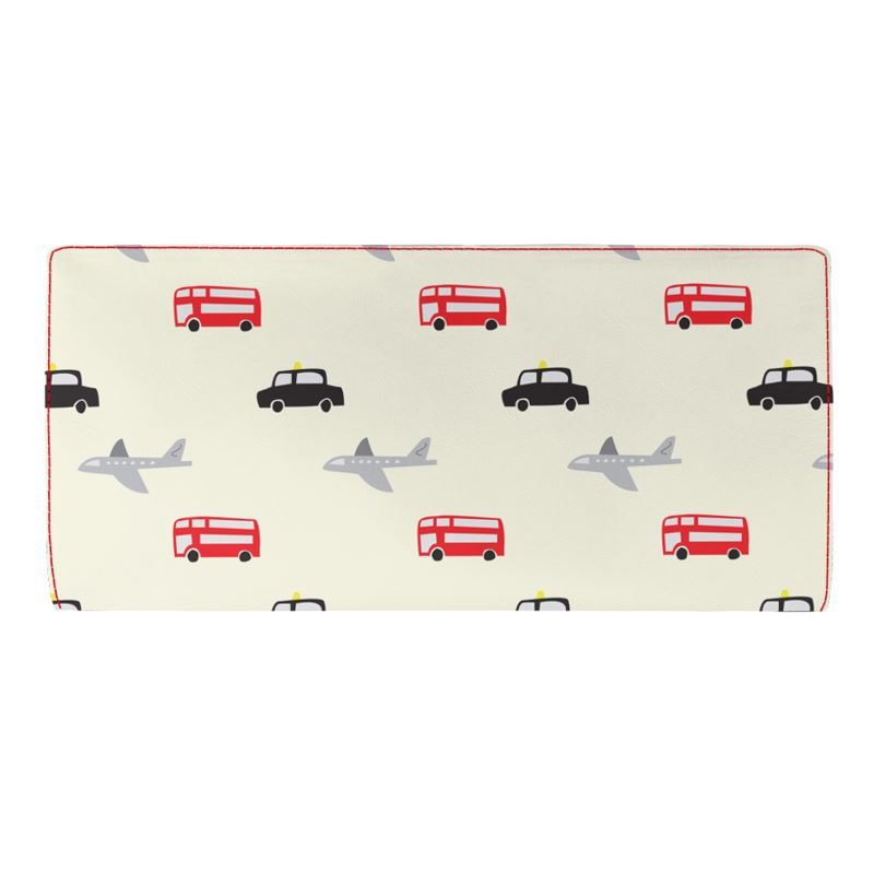 AkrutiArtz Red Bus Travel Leather Wallet