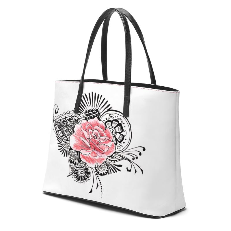 Akruti Artz Roses Leather Tote