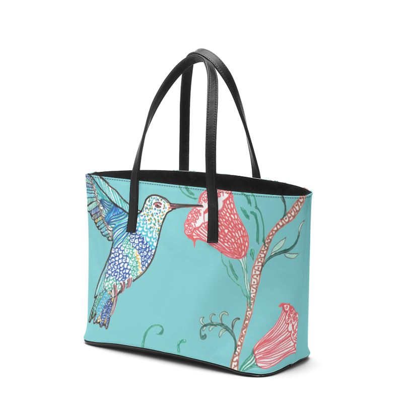 Akruti Artz Humming Bird Leather Tote