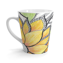 Load image into Gallery viewer, Yellow Floral Latte mug