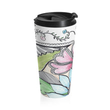 Load image into Gallery viewer, Floral Stainless Steel Travel Mug