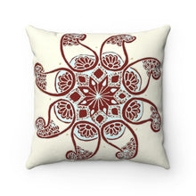 Load image into Gallery viewer, Akruti Artz 8-Petal Flower Spun Polyester Square Pillow