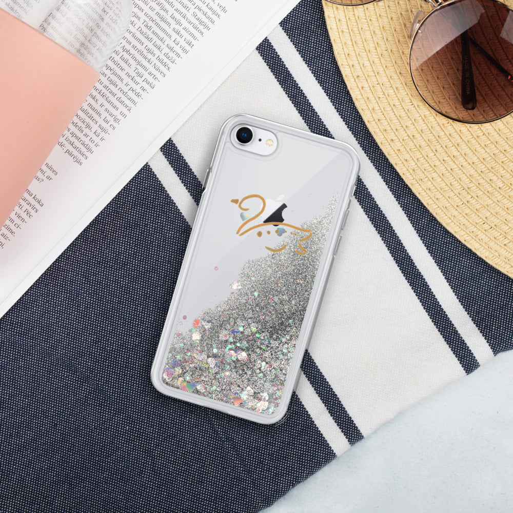 Swan Liquid Glitter Phone Case