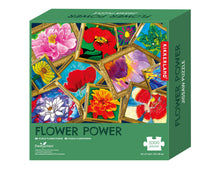Load image into Gallery viewer, What a fun way to spend time during these Covid times.  Enjoy the challenge of building this 1000 piece Flower Power puzzle depicting what spring has to offer.
