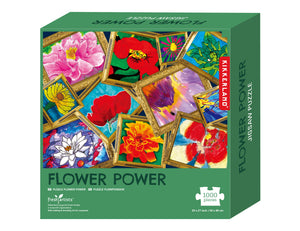 What a fun way to spend time during these Covid times.  Enjoy the challenge of building this 1000 piece Flower Power puzzle depicting what spring has to offer.