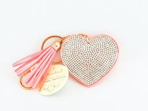 This fun sparkle heart shaped key chain will make it easy to find your keys and add a little bling in your bag.