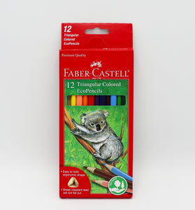 Have fun coloring or drawing with these Faber Castell Triangular Colored EcoPencils.  Allows you to make the most of your drawing experience with these easy to grip pencils.