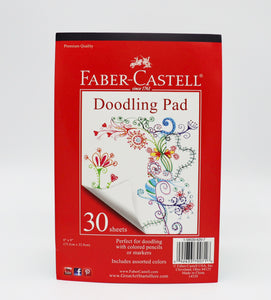 The Faber-Castell Doodling Pad is perfect for free form art.  Using colored pencils or markets, make beautiful drawings