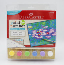Load image into Gallery viewer, This Faber Castell paint by number museum series will surely make you feel like a painter. Once completed,  this Monet Water Lillies painting will look great on your wall or as a  gift for  a friend.