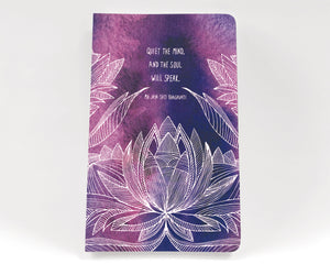 This journal gives you an opportunity to write down your thoughts.  There are reflections scattered within the book.