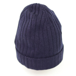Unisex Wide-Ribbed Knit Beanie Hat