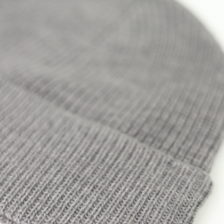 Unisex Fisherman's Rib Stitch Beanie with Striped Cuff