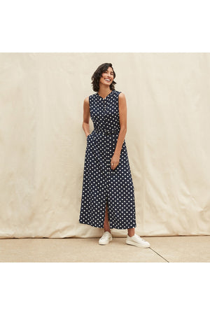 BELTED POLKA DOT DRESS 211027