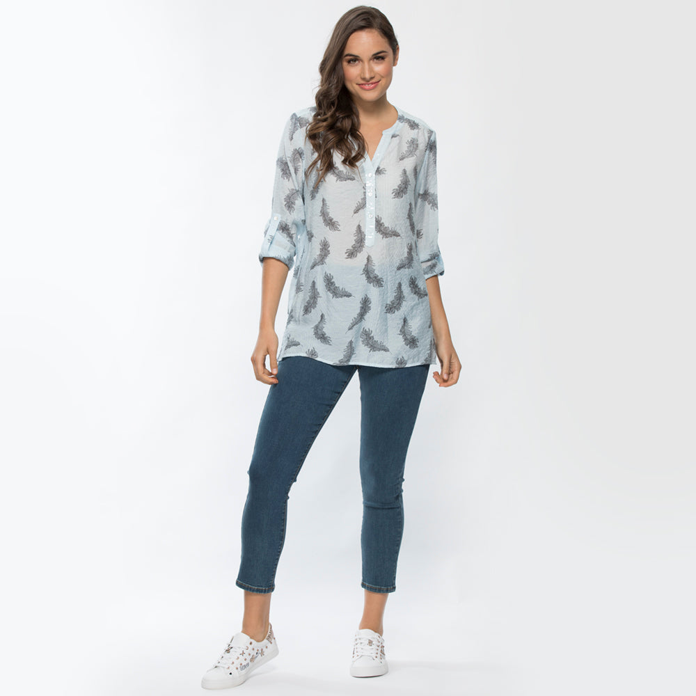 FEATHER PRINT SHIRT 33495