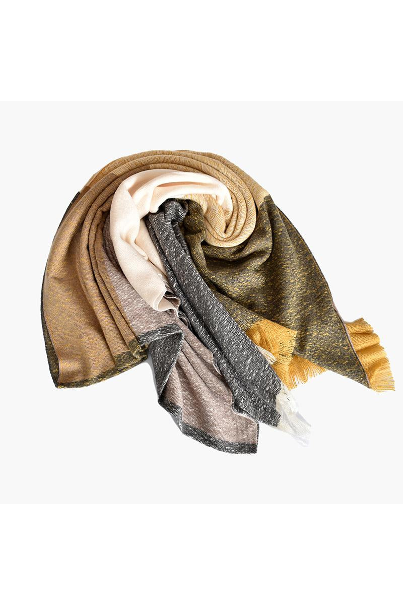 PANEL FRINGE EDGE SCARF ASD0-695