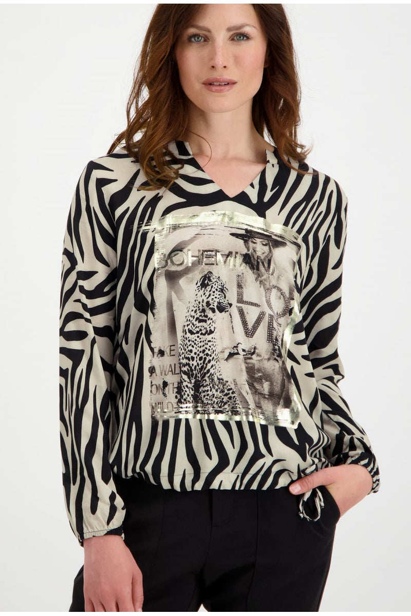 ZEBRA LOOK TOP