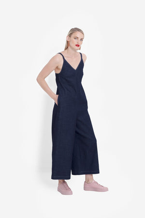 LORA DENIM JUMPSUIT A3215