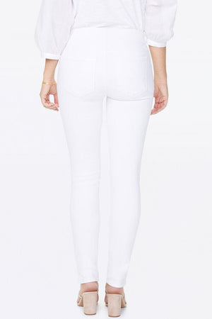 SKINNY ANKLE JEANS WITH SIDE SPLIT