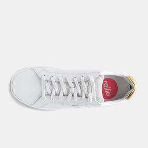 PRIME WHITE/GOLD SNEAKERS D100157