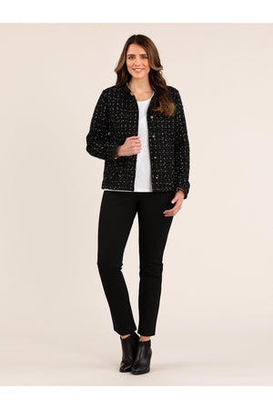 TEXTURED CHECK JACKET YT20W6063