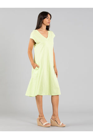 PANEL JERSEY COTTON DRESS