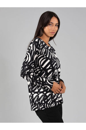 CONCENTRIC PRINT MODAL TOP