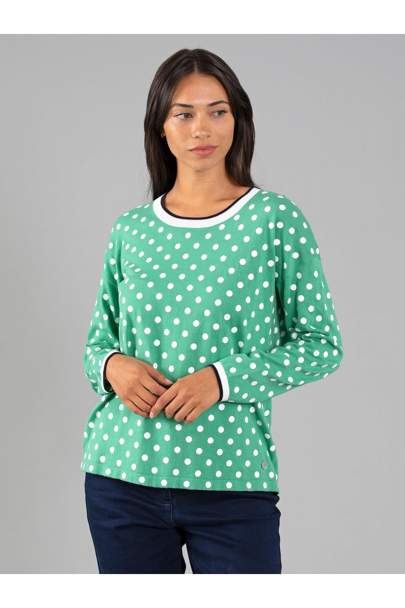 SPOT COTTON JUMPER