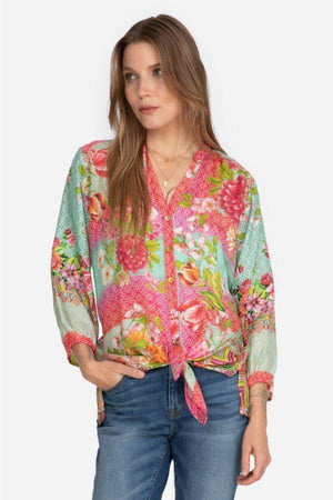 HALLIE BUTTON DOWN TOP C16121
