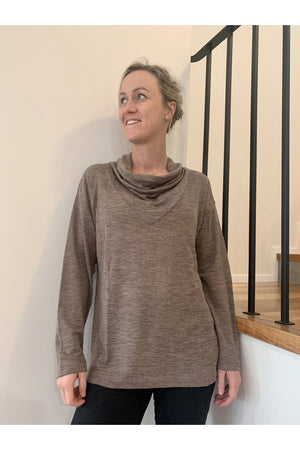 HOME TIME COWL SLOUCH TOP FO5694