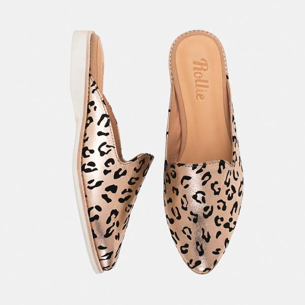 MADISON MULE ROSE GOLD LEOPARD