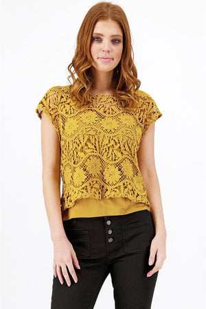 ALL OVER LACE TOP 405786MNR